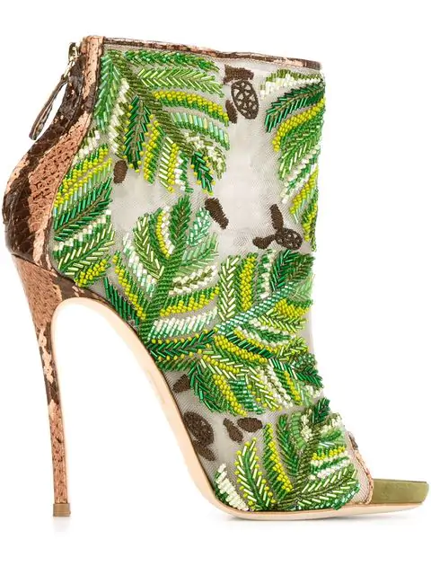 Dsquared2 Embroidered Boots In Green