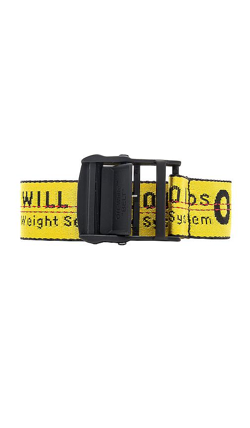 Off-White 3.5Cm Yellow Industrial Fringed Logo-Jacquard Webbing Belt