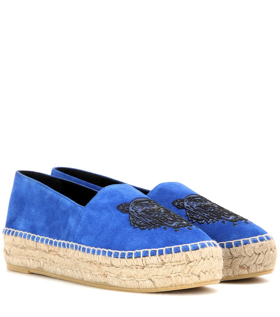 182055a68fa Kenzo 37Mm Rubberized Tiger Suede Espadrilles
