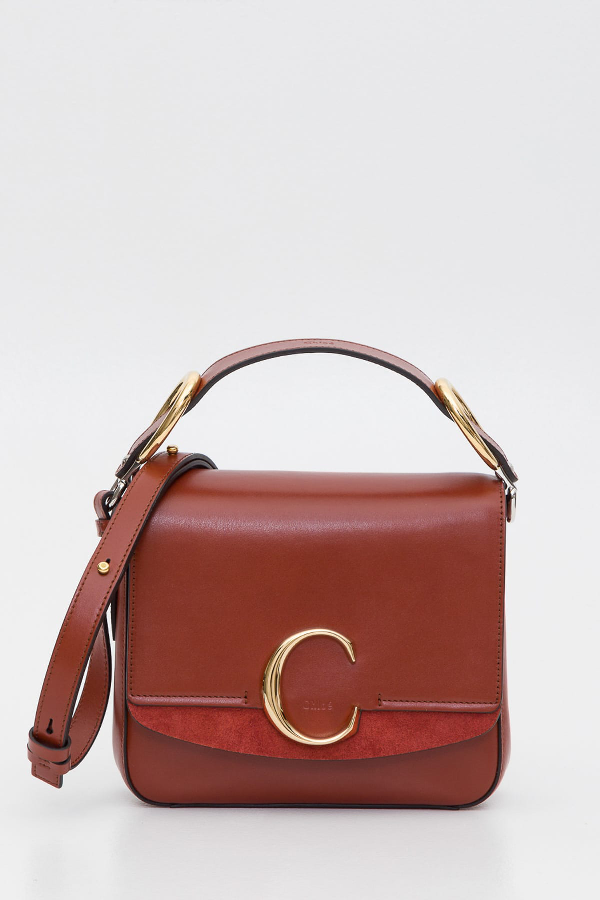 ChloÉ Chloe C Small Bag In Marrone