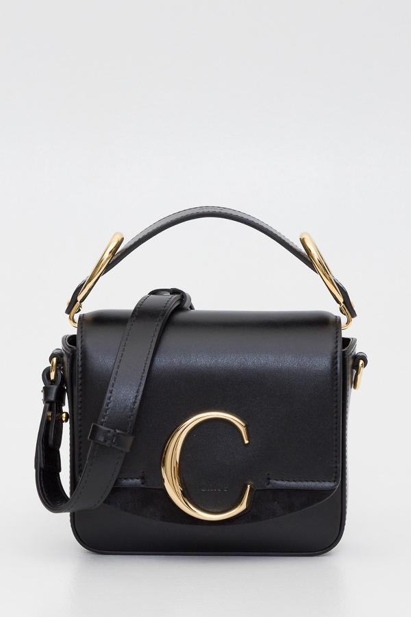 ChloÉ New C Mini Bag In Nero