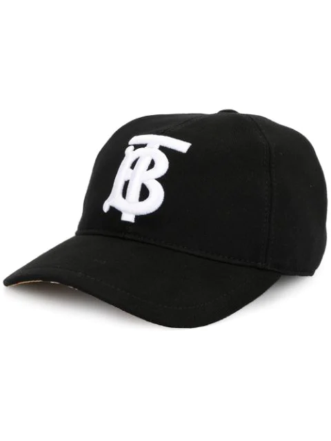 Burberry Baseball Hat In Black Cotton With Embroidered Logo Ss 2020 In A1189 Black