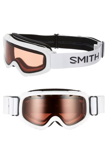Smith Gambler 164mm Youth Fit Snow Goggles In White/ Orange