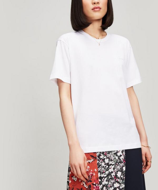 Acne Studios Nash Face T-shirt In White