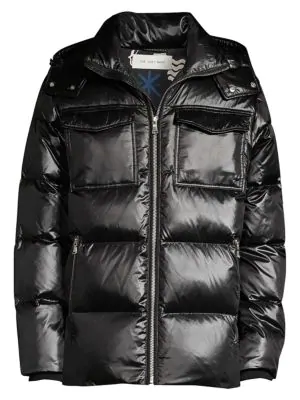 The Very Warm Richmond Hooded Down Jacket In Black