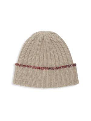 Carolyn Rowan Tweed-edge Cashmere Hat In Nile Brown