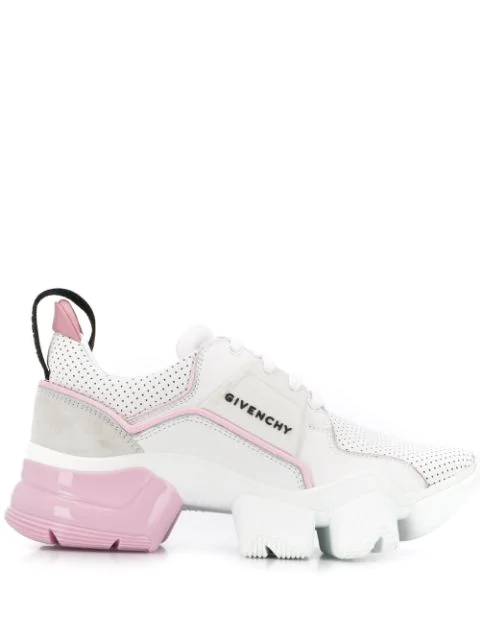Givenchy Jaw Low-top Leather Sneakers, White In White ,pink
