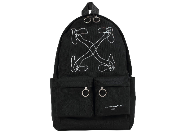 Off-white Abstract Arrows Backpack Black White