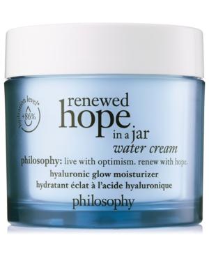 Philosophy Renewed Hope In A Jar Water Cream In N/a
