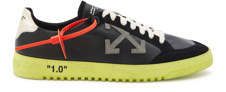 Off-White Low-Top Sneakers Calfskin Patch Black-Combo