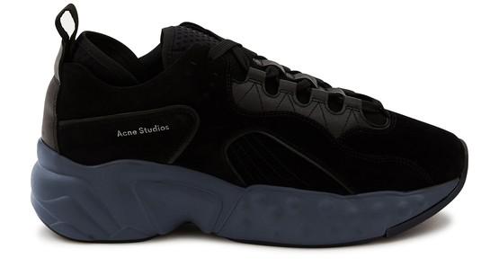Acne Studios Rockaway Textured-canvas And Rubber Sneakers In Multi Black