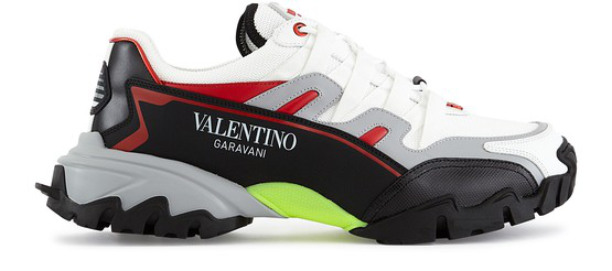 Valentino Garavani Garavani Climber Trainers In Bianco/grey/nero/rouge