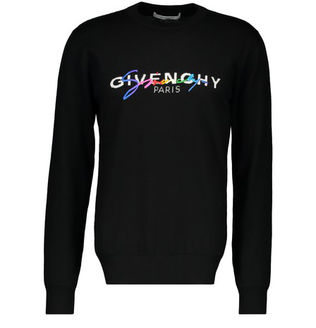 Givenchy Signature Logo Sweater - 黑色 In Black
