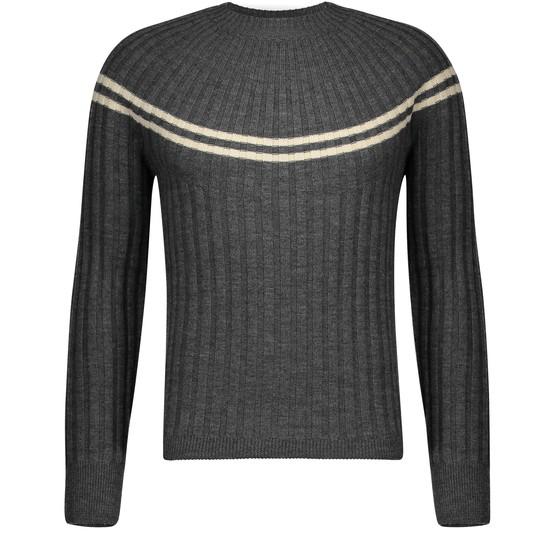 Dries Van Noten Takota Round Neck Jumper In Merino Wool In Grey