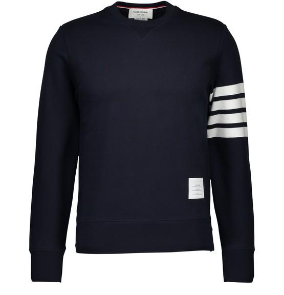 Thom Browne Round Neck Sweatshirt In Navy