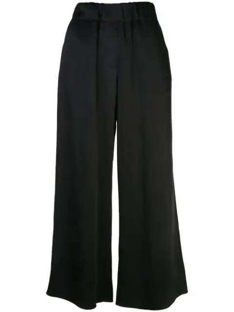 Loewe High Waisted Palazzo Trousers In Blue
