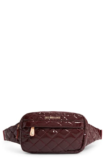 Mz Wallace Metro Belt Bag In Port Lacquer
