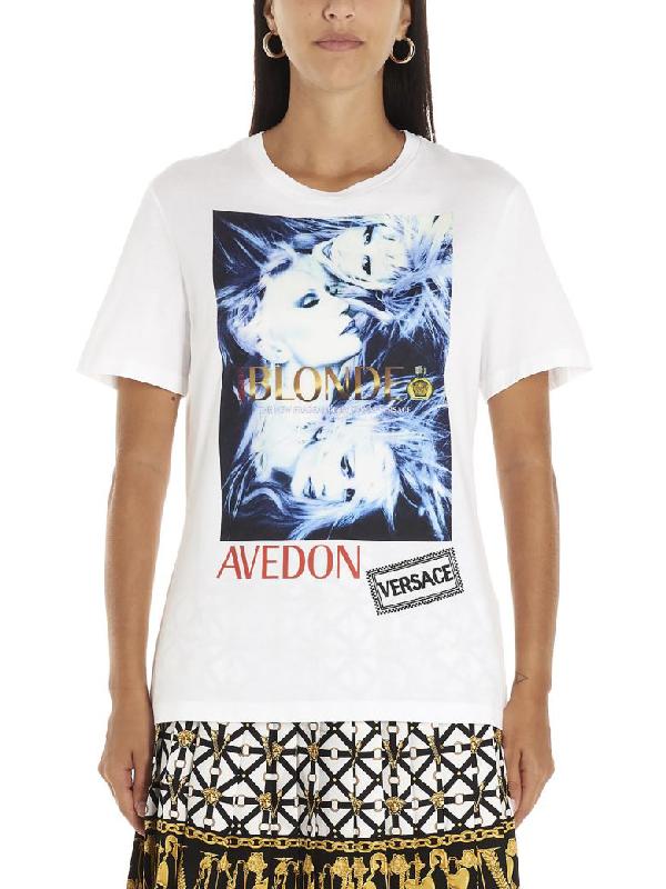 Versace Logo-print Cotton-jersey T-shirt In White