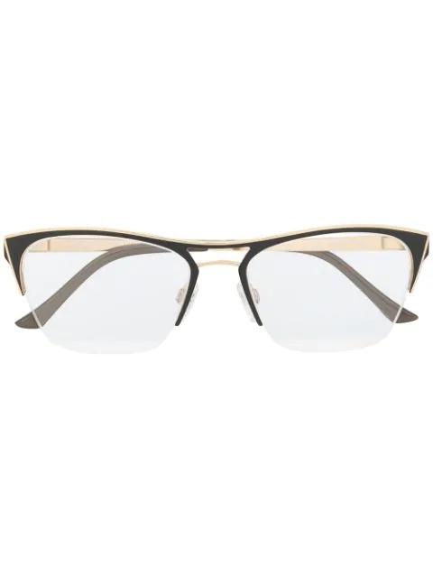 Cazal Cat-eye Frames In Gold