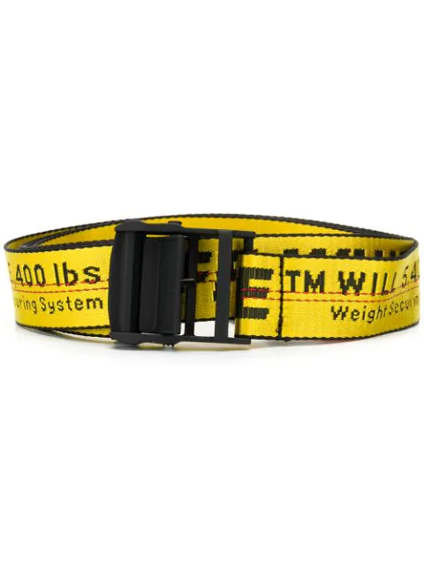 Off-white Industrial Belt Belts In Yellow Tech/synthetic In 6010 Yellow Black