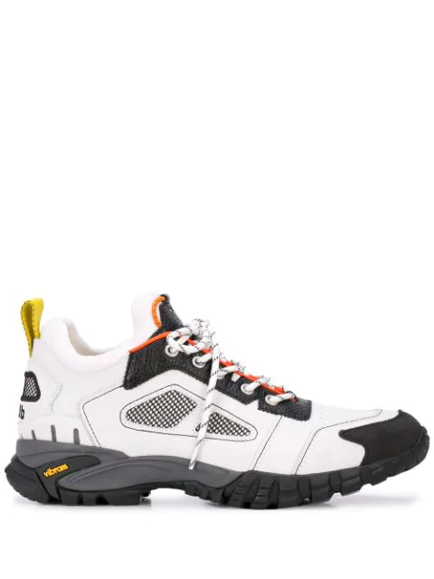 Heron Preston Security Sneakers In White Leather In 0200 Offwht
