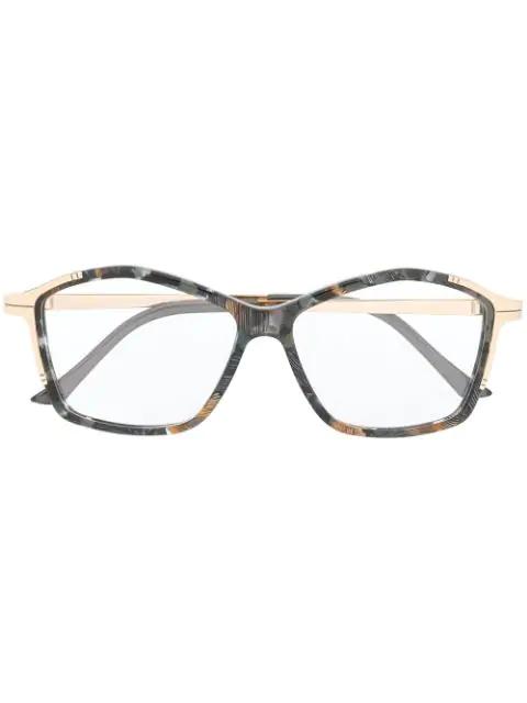 Cazal Printed Frames Glasses In Grey