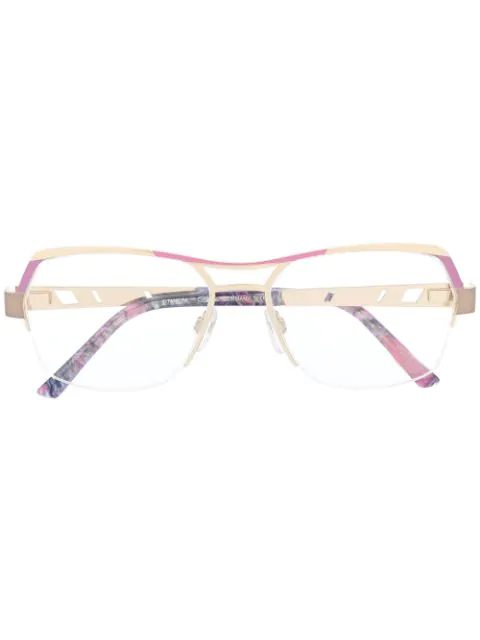 Cazal Geometric-frame Glasses In Gold