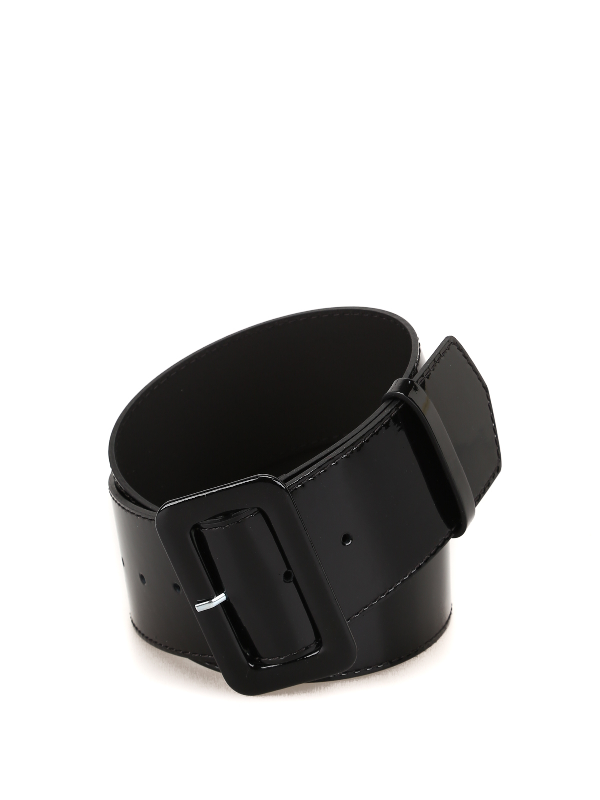 P.a.r.o.s.h. Luxibelt Patent Belt In Black