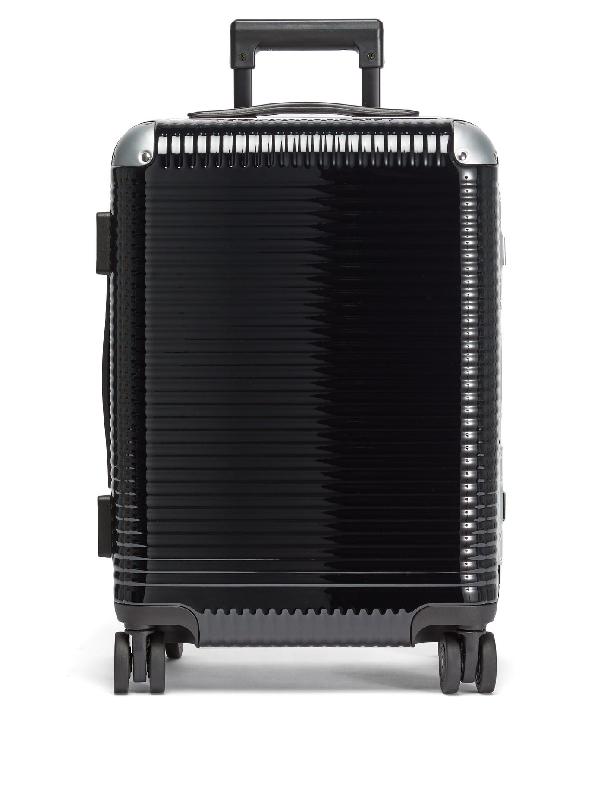 Fabbrica Pelletterie Milano Bank Light Spinner 53 Cabin Suitcase In Black