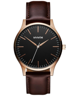 Mvmt Men's The 40 Brown Leather Strap Watch 40mm