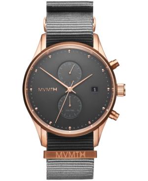 Mvmt Men's Voyager Graphite Nylon Strap Watch 42mm In Charcoal