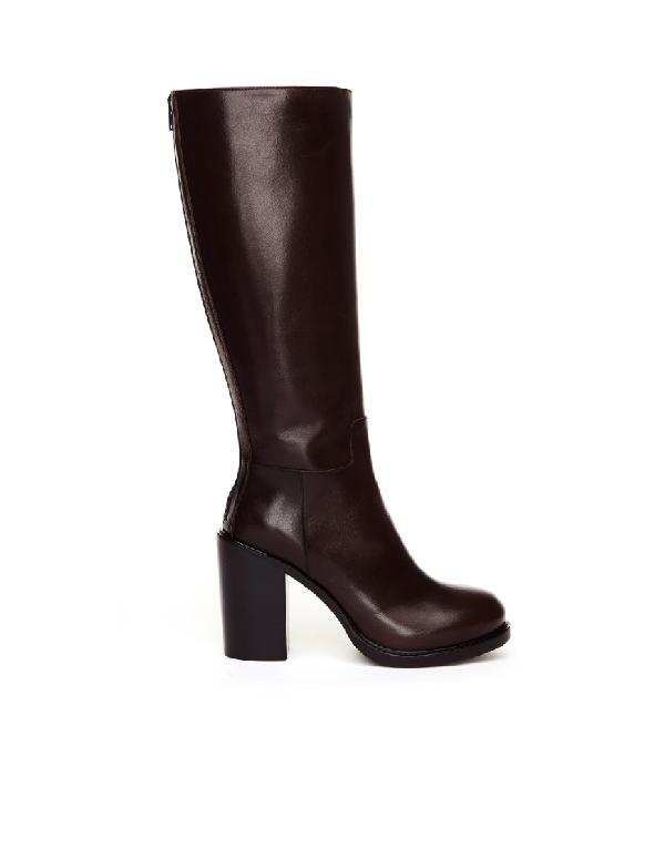 A.F.Vandevorst Brown Leather Heeled Boots