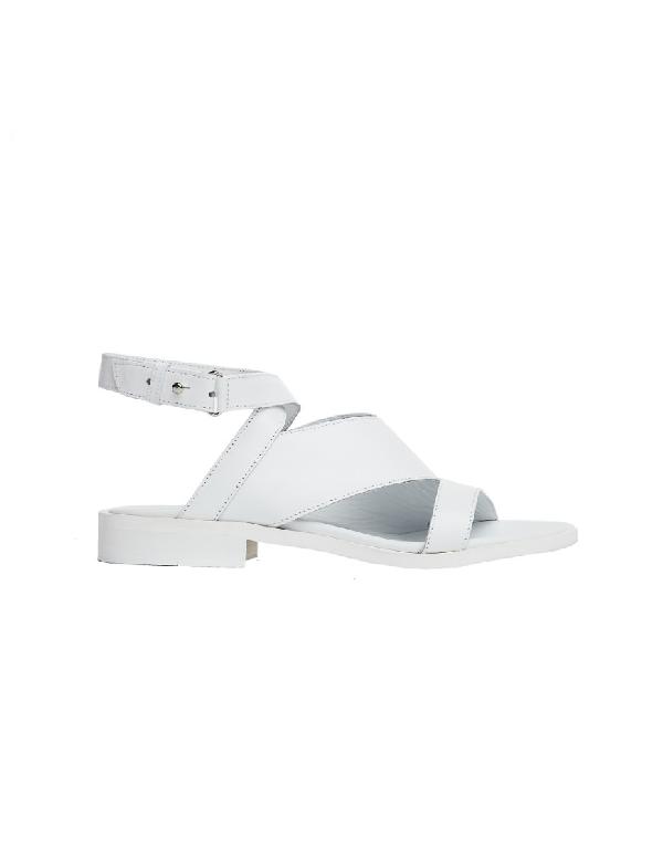 A.F.Vandevorst White Leather Sandals