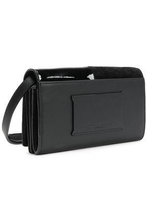 Alexander Wang Patchwork Leather And Suede Shoulder Bag In Black