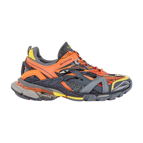 Balenciaga Orange Men's Multicolored Track.2 Sneakers In 7560