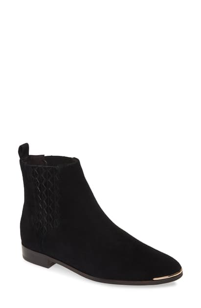Ted Baker Iveca Leather Flat Ankle Boots-black