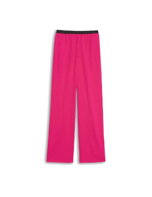 Balenciaga Pink Elastic Classic Trousers In 5510 Fuschi