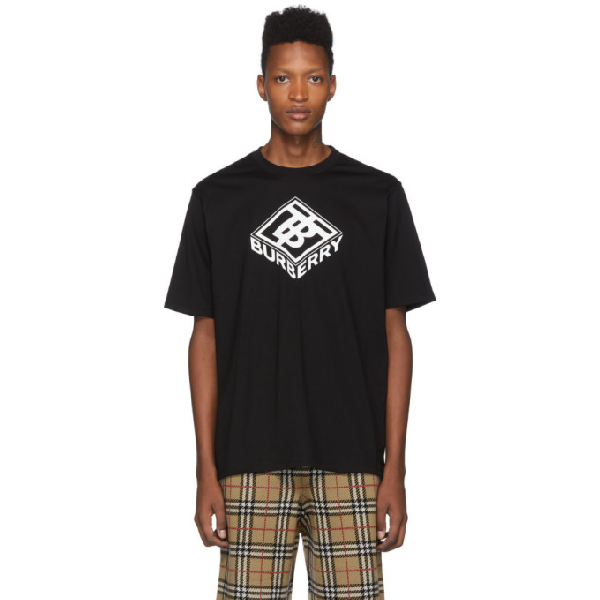 Burberry Ellison Logo-Print Cotton-Jersey T-Shirt In Black
