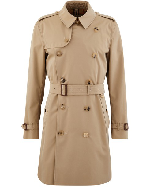 Burberry The Mid-length Kensington Heritage Trench Coat In Honey