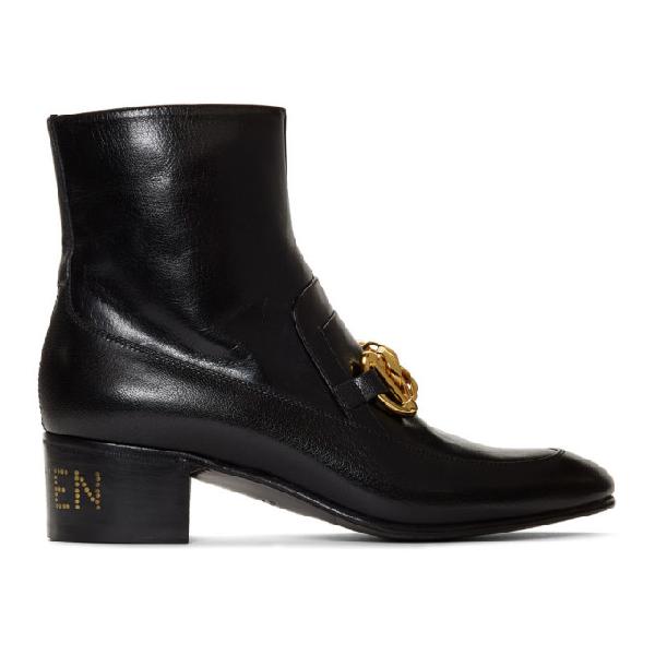 Gucci Ankle Boots D3v00 Calfskin Horsebit-detail Black