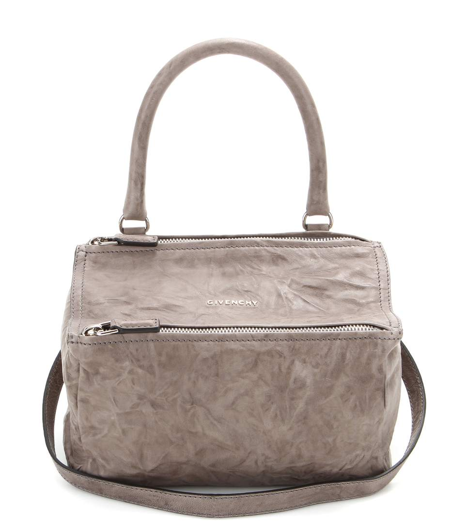 Givenchy Pandora Small Leather Shoulder Bag In Charcoal