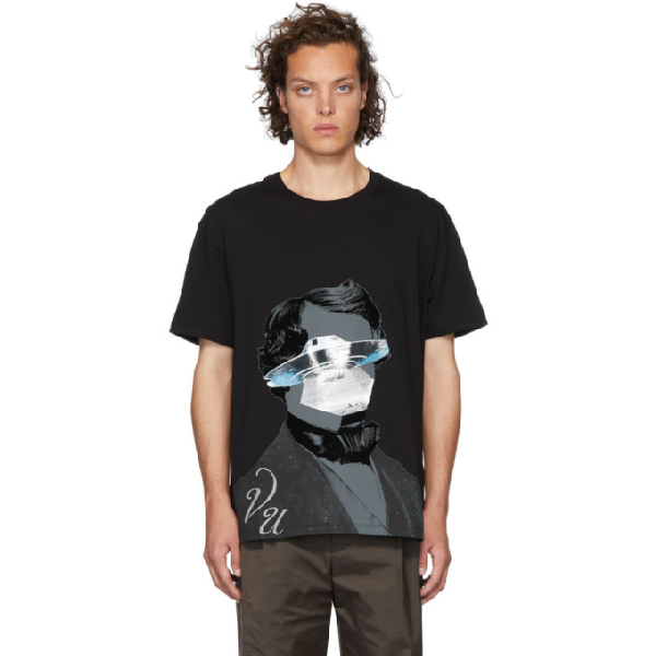 Valentino X Undercover Graphic-Print Cotton-Jersey T-Shirt In Dh7 – Nero/