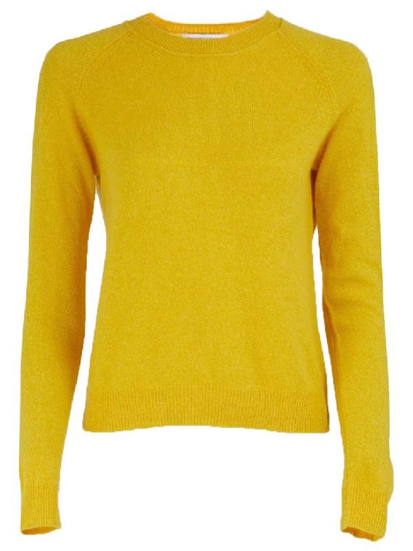 Alexandra Golovanoff Mila Round Collard Knitwear In Yellow