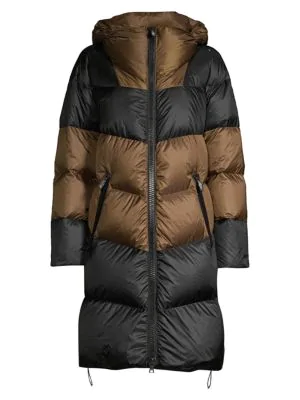 Post Card Urban Snowdon Puffer Coat In Black Bronze