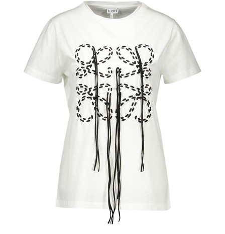 Loewe Anagram-Embroidered Cotton-Jersey T-Shirt In White