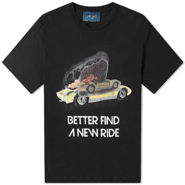 Lost Daze New Ride T-shirt  In Black ,multicolour