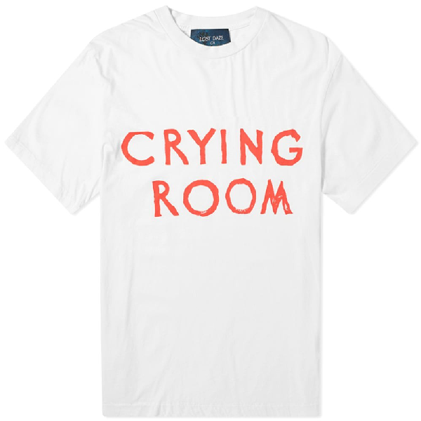 Lost Daze Crying Room Tee In White