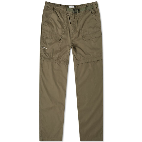 Pop Trading Company Pop Trading Company Zip Off Pant In Green