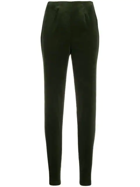 Holland & Holland Narrow Leg Trousers In Green