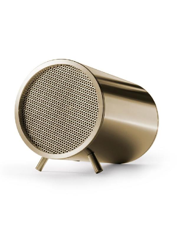 Leff Amsterdam Gold Unisex Brass Tube Audio Speaker In Neutrals